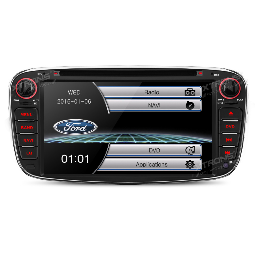 Xtrons 7 windows ce 2 din car dvd player with gps navigation map stereo for