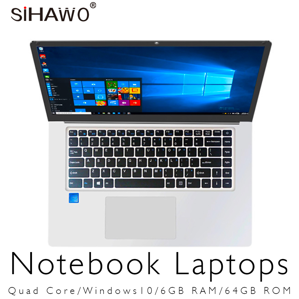 Laptop 15.6 inch Windows 10 Ultrabook Gaming Laptops Intel Core Celeron N3450 Notebook Computer With 6GB RAM 64GB 128GB SSD ROM