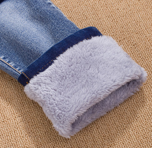 Image 5 - Fashion Winter Warm Boys Jeans Children Thicken Add Wool Denim Trousers Toddler Boys Clothes Teenager Washing Blue Jeans 3 10Yrs