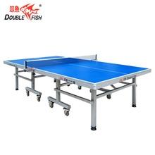 Двойная рыба 9945B ITTF утвержден официальный сложенный подвижный стол для настольного тенниса пинг понг для международного соревнования 25 мм толщина