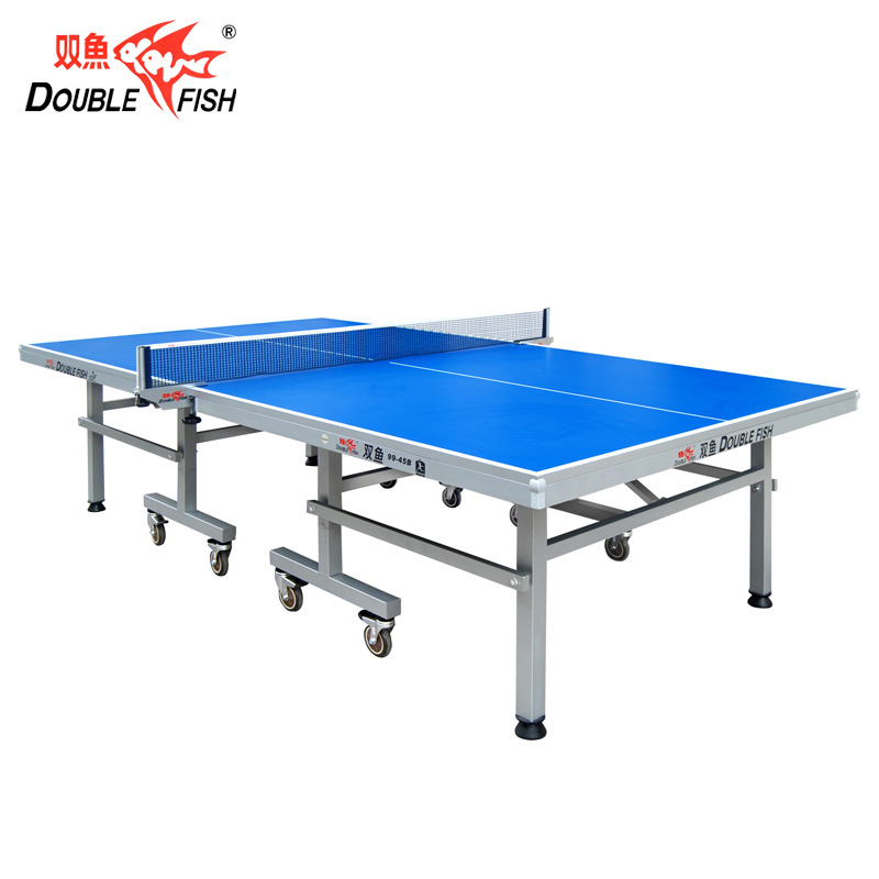 Double Fish 9945B ITTF Approved Official Folded Moveable Table Tennis Pingpong Table For International Tournament 25mm Thickness