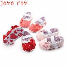 Joyo Roy Baby Girls Non-slip Cotton Shoes 0-2 Years old Children Toddler Babe Anti-skid Spring Autumn Dj0187R