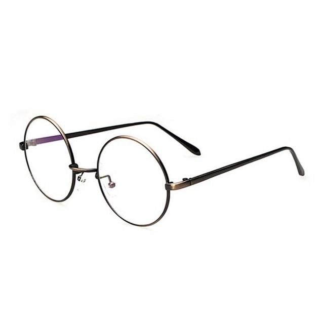 06c79b9c37f79 Redonda de Metal Full Frame Mulheres Homens Óculos Moda Retro Super Peso  Leve Armação Unissex