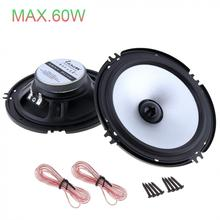 LABO 2 pcs 6.5 Inch 60W Car Speaker Automobile Auto sound HiFi Audio Full Range Frequency High Pitch Loudspeaker