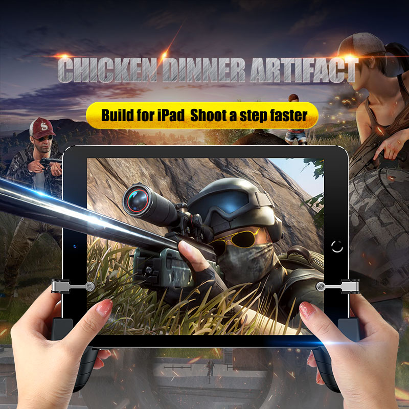 Professional Tablet Game Trigger Fire Button Aim Key &gamepad L1r1 Controller Universal For Android Ipad Game Grip Handle