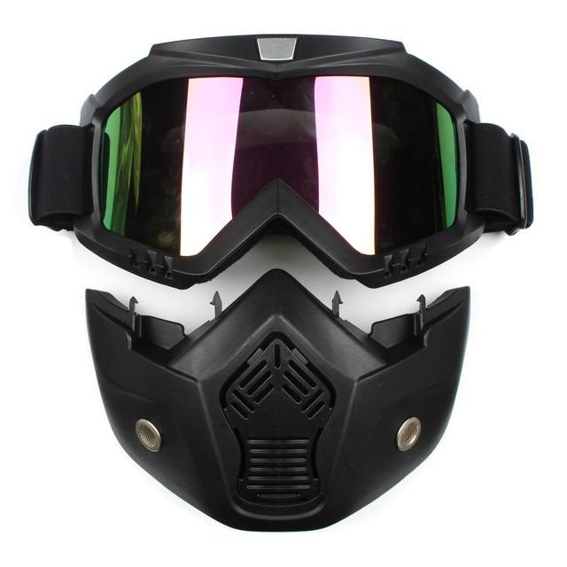 e7a7a1a468 Motocicleta desmontable casco Modular cara máscara escudo gafas para la  cara abierta Moto Vintage cascos