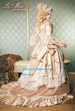 Custom Made Marie Antoinette Fantasy Champagne Carnivale&Masquerade Vintage Costume/Victorian Dress