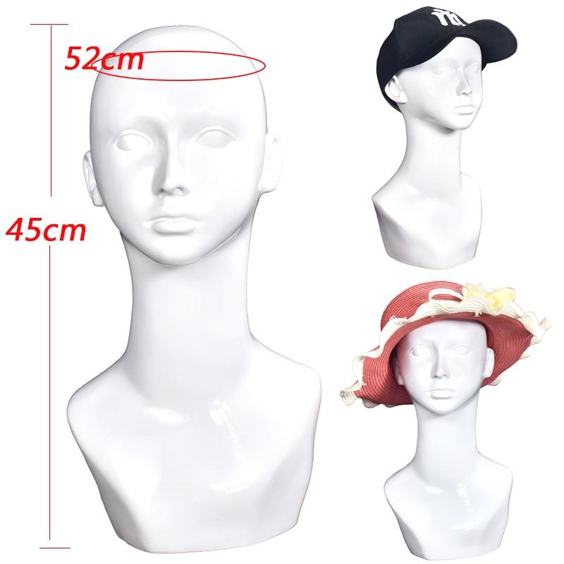 PVC Mannequin Head Model Female Manikin Mannequin Wig Scarf Glasses Hat Cap Display Stand