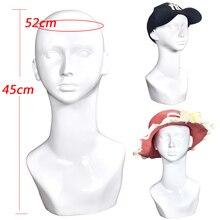 PVC Mannequin Head Model Female Manikin Wig Scarf Glasses Hat Cap Display Stand