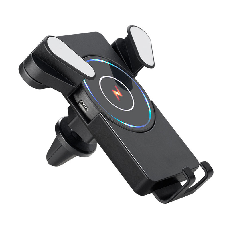W2 2 In 1 Qi Wireless Car Charger Holder Desktop Pad Detachable Vehicular Quick Micro USB Port
