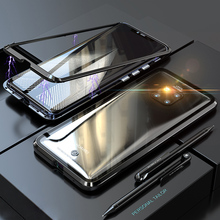 Luxury Magnetic Case For coque Huawei Mate 20 Lite Case Pro Metal Bumper+Glass Cover sFor Huawei Mate 20 Pro Case 20Lite 20Pro