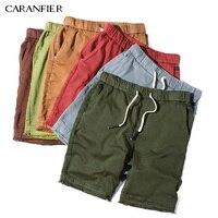 CARANFIER Mens 2018Summer Casual Cotton Solid Shorts Men Fashion Brand Boardshorts Breathable Shorts Cool Short Masculino