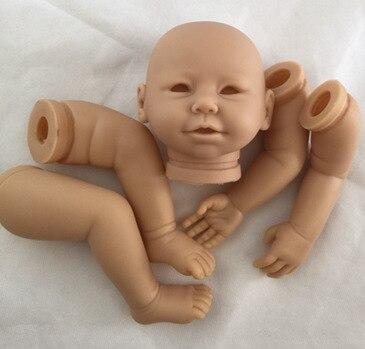 soft Vinyl baby doll unpainted reborn kits DK-79 DIY Accessories for 20inch dolls boys girls childrens Christmas new year gift