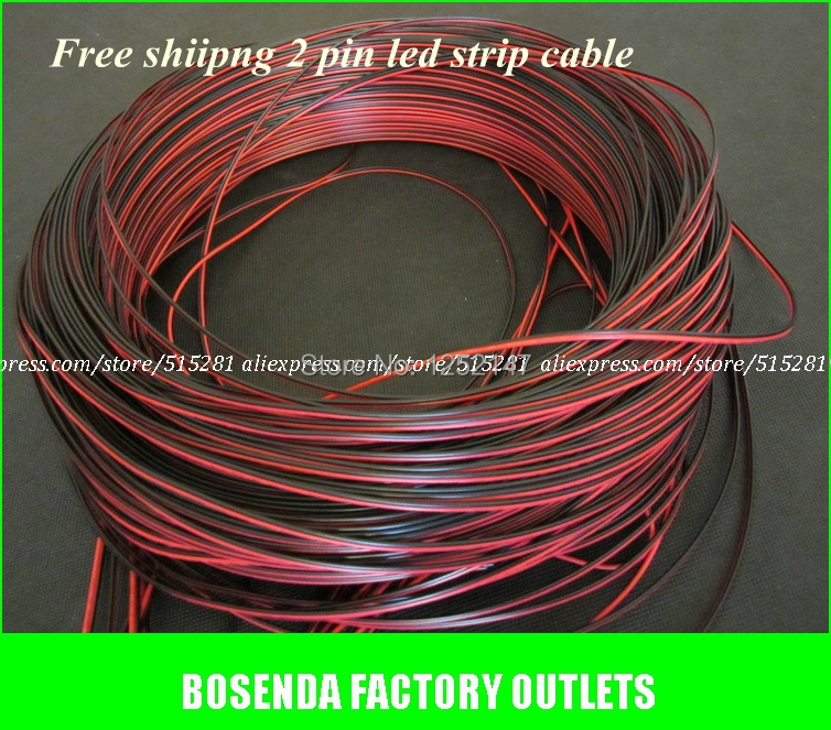 1m/pack Copper Wire Led 2Pin Extension Electric Cable Red Black ...