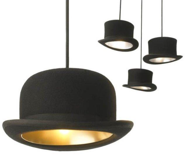 2018 offres spéciales nouveau moderne Mooi lumière tissu Bowler grand chapeau lampes suspendues éclairage en or ou argent lumière et éclairage