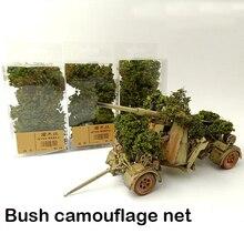 Имитация дерева камуфляжная сеть боевых автомобилей Миниатюрная модель растительности Sand Таблица изготовления Diy материал