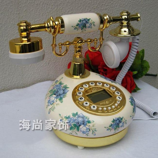 The new telephone / phone / ceramic Retro Blue and white porcelain home landline / caller display technology