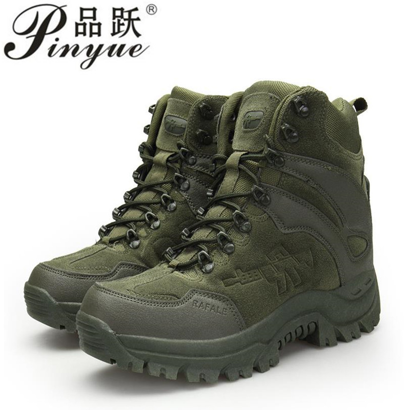 Winter Military Boots Men 2018 Fashion Army Boots Men' s Tactical Desert Combat High Top Ankle Boots Men Outdoor Work Shoes Men fashion army boots men military boots tactical combat boots waterproof summer winter desert boots size 35 46 ids658