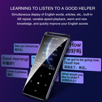 M6 Backlight FM Radio Voice Recorder Lossless HIFI Touch Button Mini Rechargeable Sport Ultra Thin Portable Bluetooth MP4 Player
