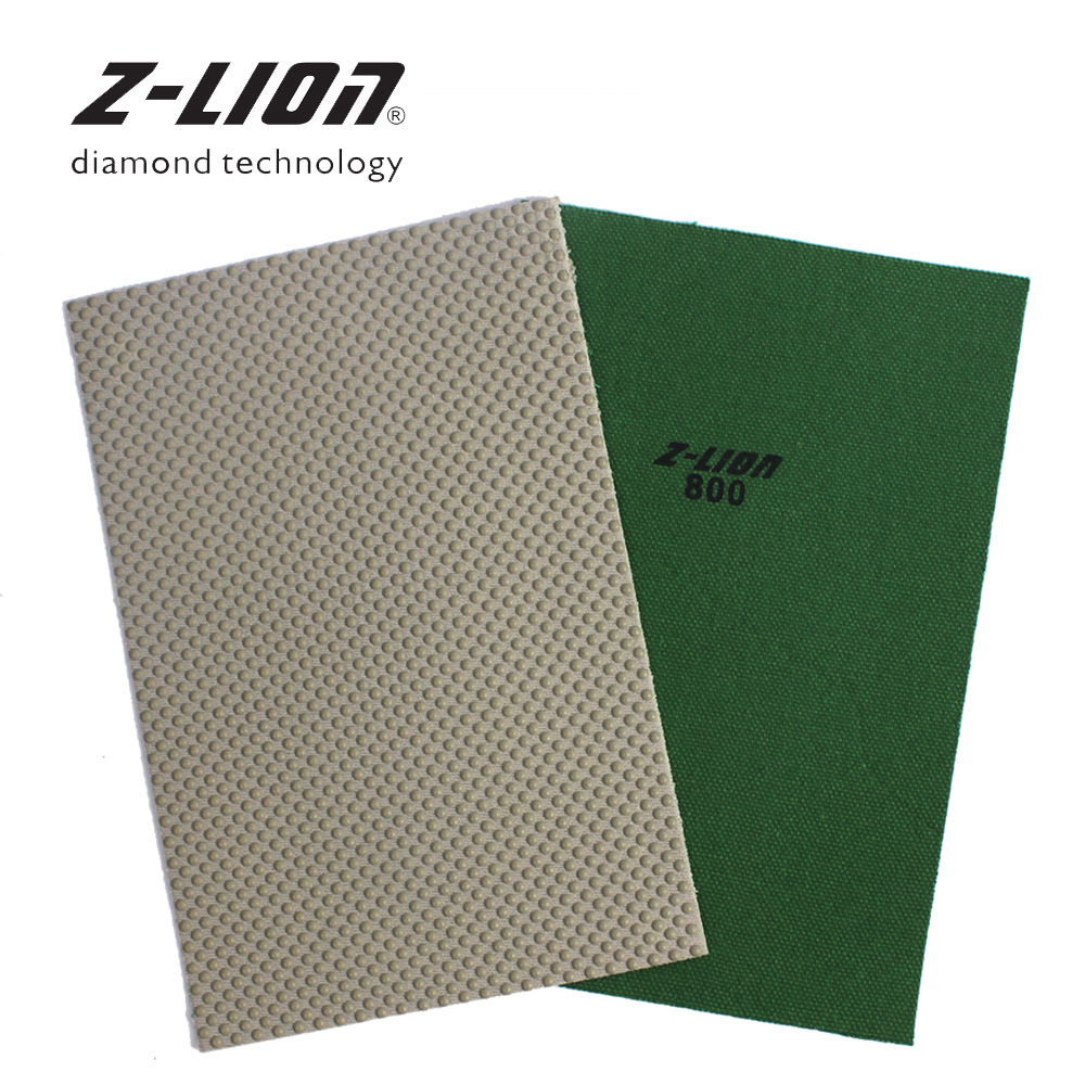 Z-LION 1 Piece Diamond Sanding Paper Resin Bond Hand Polishing Sheet Stone Glass Edge Sandpaper Polishing Sheet Abrasive Tool