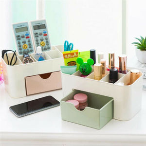 Image 1 - 2019 New Brand Fashion Table Organiser Make up Holder Jewelry Storage Box Cosmetic Desk Drawer Case