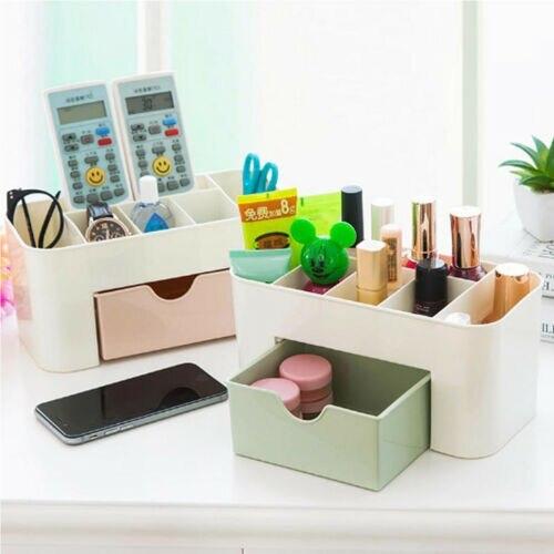 2019 nouvelle marque mode Table organisateur maquillage support bijoux boîte de rangement cosmétique bureau boîte à tiroir