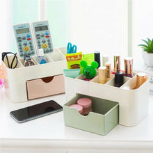 Nueva marca de 2019, organizador de mesa a la moda, organizador de maquillaje, caja de almacenamiento de joyería, caja de cosméticos para cajón de escritorio