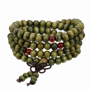 Image 3 - 1Pcs 8 Mm Natuurlijke Sandelhout Boeddhistische Boeddha Meditatie Hout Gebed Kralen Mala Armband Armbanden Vrouwen Mannen Sieraden 108 Kralen bijoux