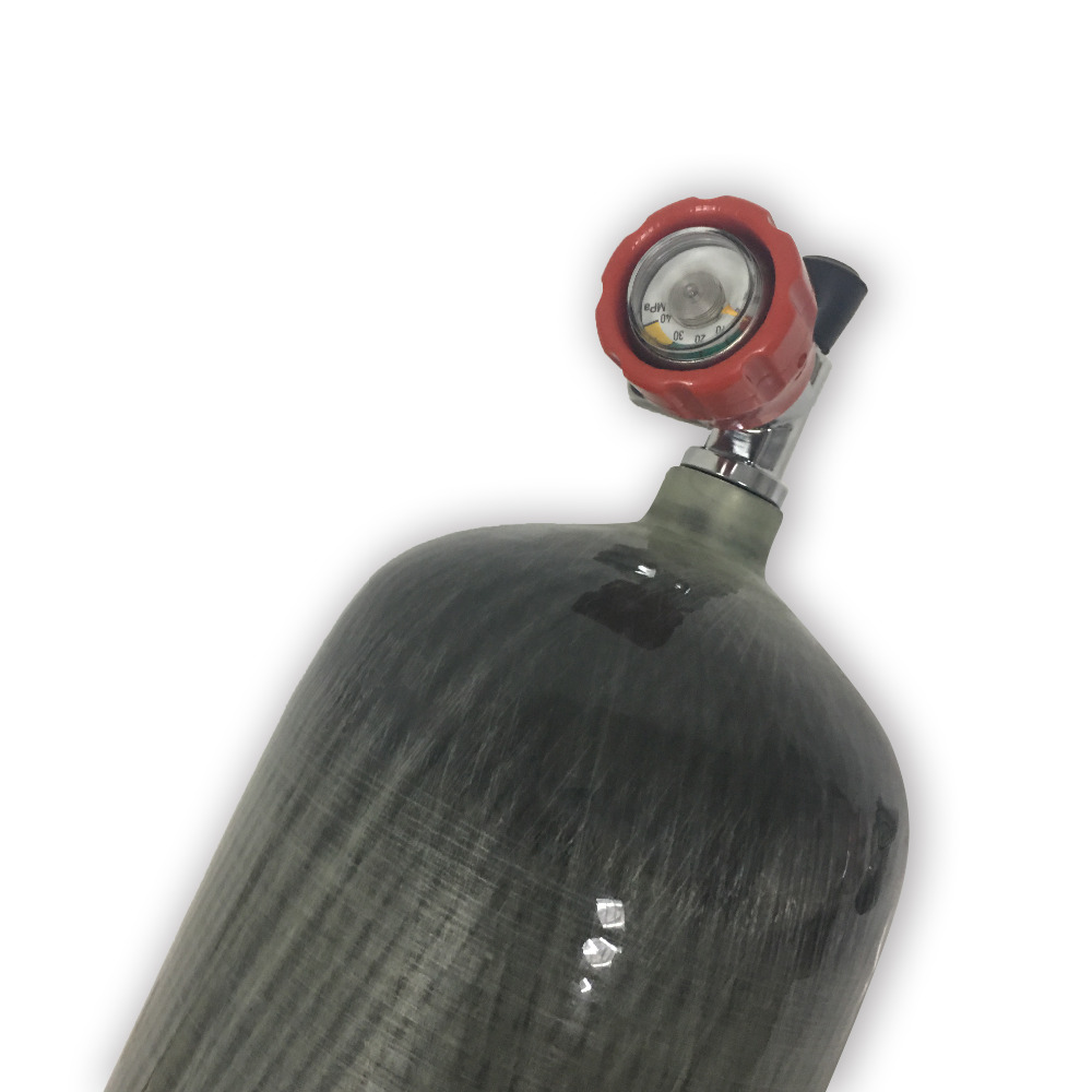 Image 5 - AC10911 Original 9L 95Cf Scuba Diving Air Tank Carbon Fiber Wrapped Cylinder Paintball Tank 4500Psi High Pressure with Valve-in Paintball Accessories from Sports & Entertainment