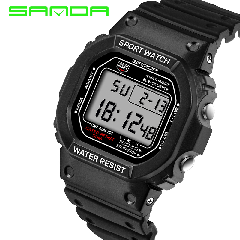 SANDA Sport Watch Men Military Army Watch Waterproof Calendar LED Digital Watches Top Brand Luxury relogio masculino брошь patricia bruni patricia bruni mp002xw191iw