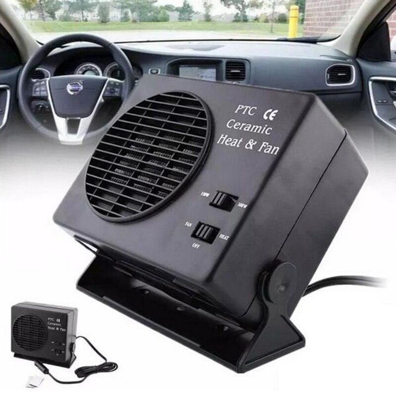 DC 12V 150/300W Car Portable Heater Ceramic Demister Cool/Heat  Dryer Fan Windscreen Window Defroster Deicer Temperature Control