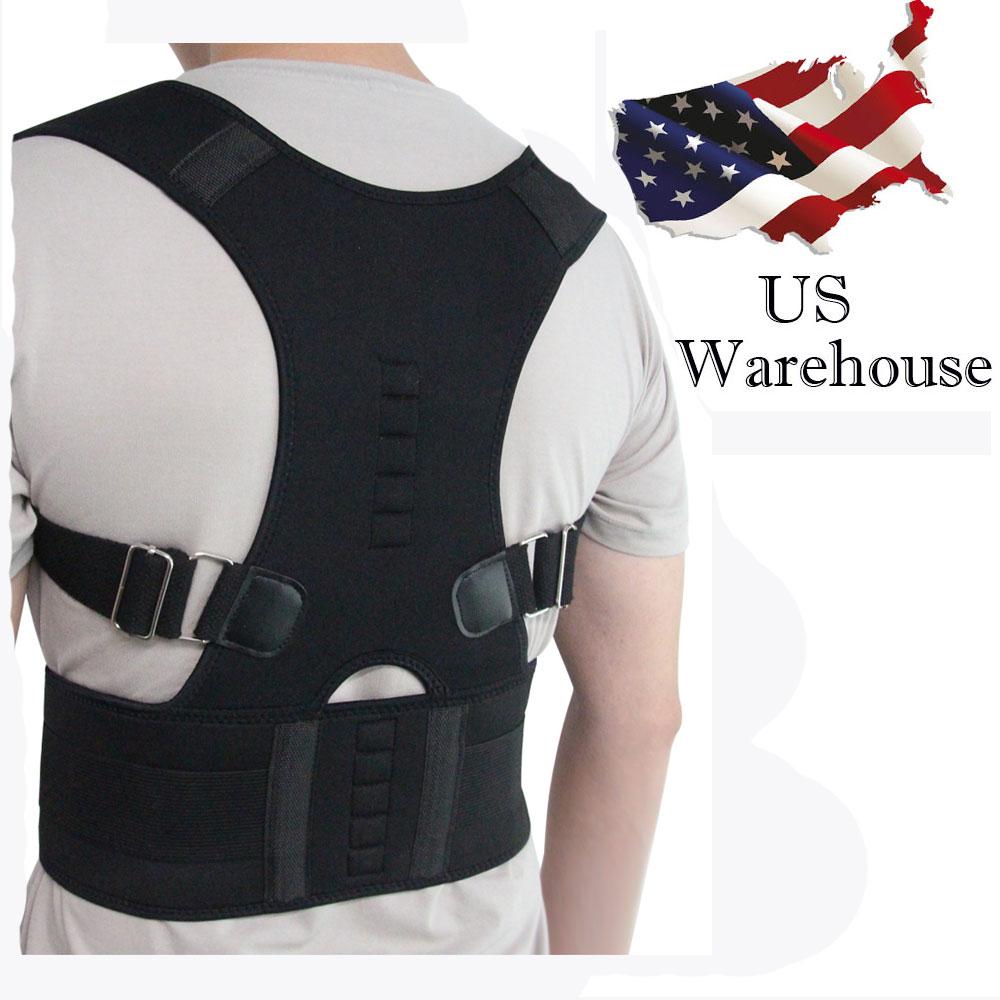 Aptoco terapia magnética postura Corrector Brace hombro espalda cinturón para apoyos y soportes cinturón hombro postura ee.uu. Stock