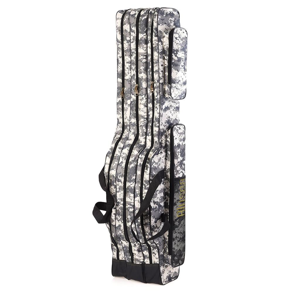 Lixada Blusea 120cm//150cm 3 Layers Fishing Bag Portable Folding Fishing Rod Reel Bag Fishing Tackle Carry Bag Case Travel Storage Bag