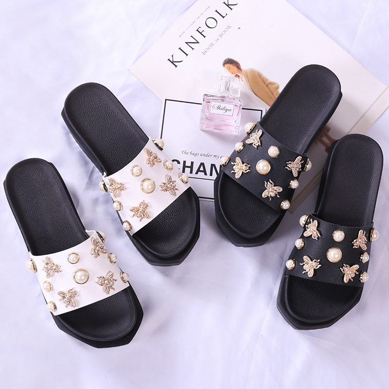 Platform Sandals Studded-Gladiator Increasing Pearl Height Muffins Women Ladies Brand