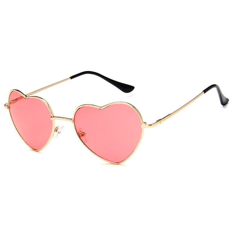 Fashion Design Love Heart Sunglasses Brand Retro Women Sun Glasses Red Yellow Pink Gafas Shades For Lady Vintage Eyewear UV400