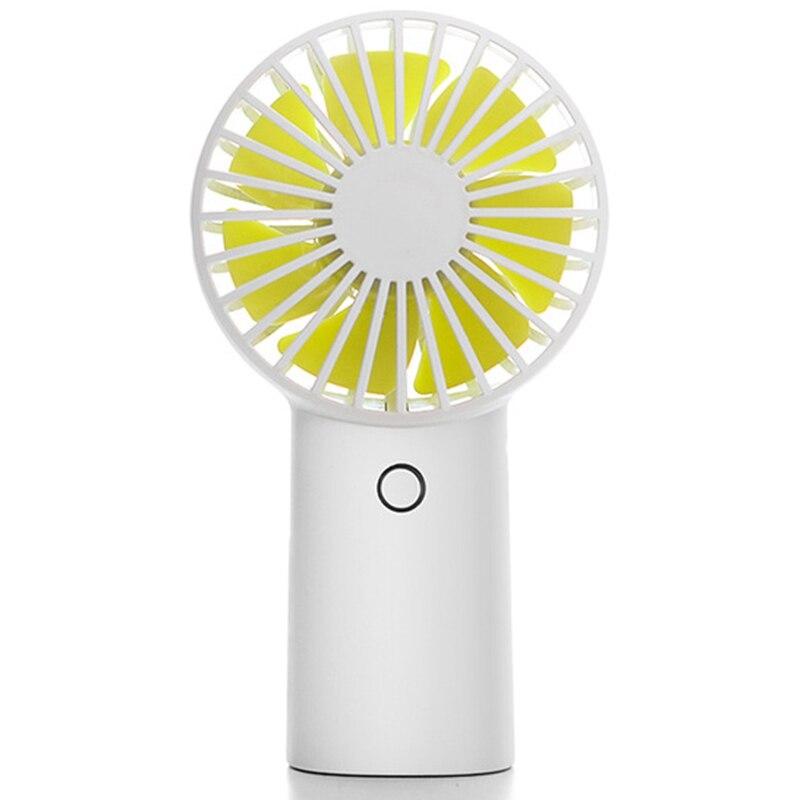 Ev Aletleri'ten Fanlar'de 4000Mah şarj edilebilir USB el Mini Fan sessiz HAVA SOĞUTUCU taşınabilir masa fanlar ev beyaz title=