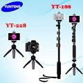 4 en 1 yunteng 188 extensible de mano portátil selfie stick Monopod y Yunteng 228 Mini Trípode DSLR Obturador de la Cámara Para teléfono