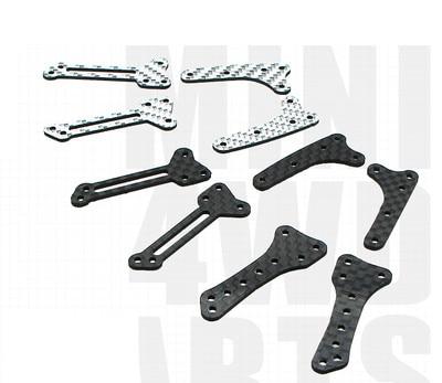 100% Kwaliteit Midden Wing Onderdelen Voor Tamiya 4wd Mini Racer/speciaal Voor Ar Ma Sxx Fma Chassis/solid/zilver Kleur Carbon Fiber Midden Wing Zonder Terugkeer