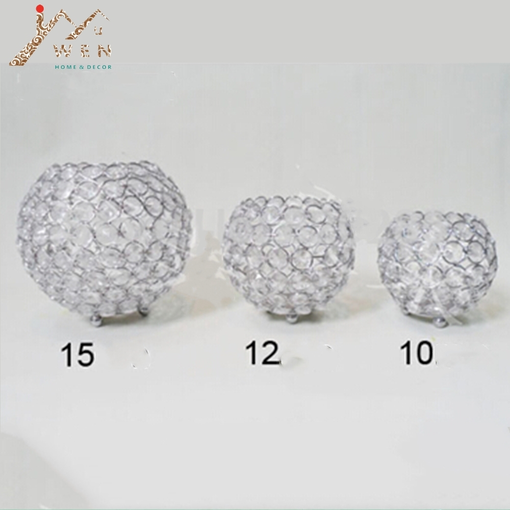Top rated 15cm diameter crystal ball candle holder 1 lot=20pcs ...