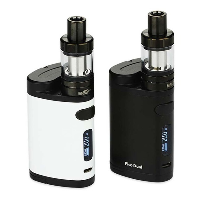 , 100% New Eleaf Pico Dual TC Vaping Kit 200W with Pico Dual Box Mod and Eleaf MELO 3 Mini Atomizer 2ml vs istick Pico Mod 75W