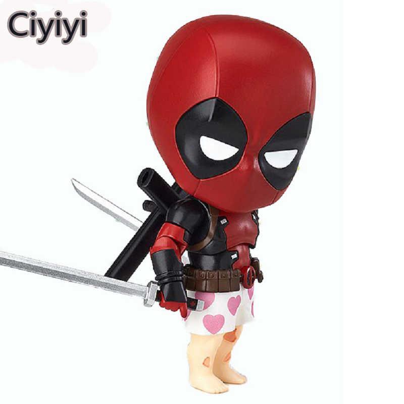 Alta Qualidade Bonito Dos Desenhos Animados Deadpool Action Figure Toy Deadpool Marvel X-MEN super-homem Pose Legal Boneca de Exibição Coleção Crianças Juguetes presente