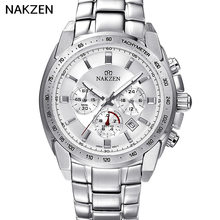 2017 Hot NAKZEN Switzerland Import Movement Top Luxury Casual Fashion Business Male Resistant Watch Waterproof Men's Watch