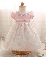 Модные Рождество Платье с цветочным принтом для новорожденных со стразами большой бант детское платье для свадьбы Vestidos infantis 1 года