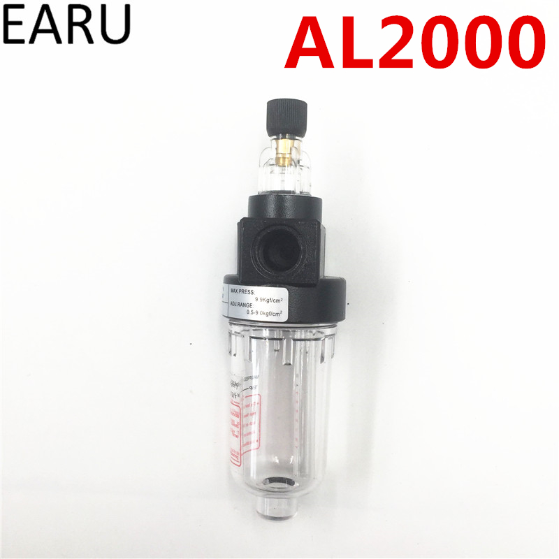 1pc New AL2000 Series Pneumatic Air Source Treatment Unit Lubricator Filter G1/4 Port Pneumatic Air Lubricator Compressor Hot ac4010 06 smc type 3 4 port air source treatment unit f r l combination