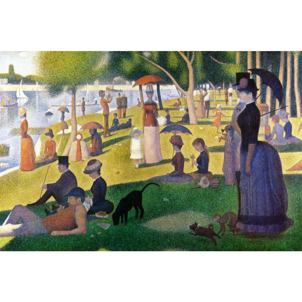 Пейзаж на холсте масляная живопись в воскресенье днем на остров La Grande Jatte от Жоржа Seurat картины ручной работы