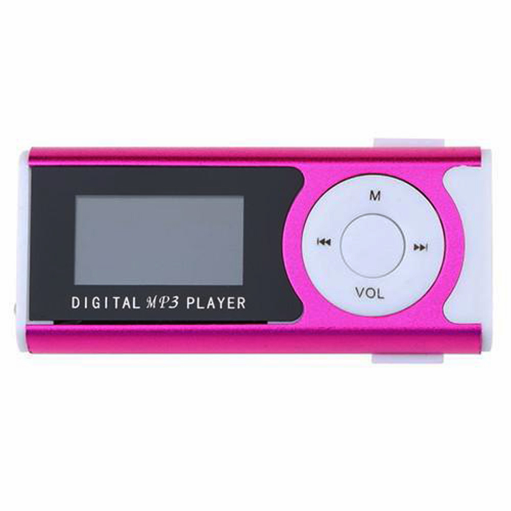 Mini 1.3 LCD Display MP3 Player Clip Type Portable MP3 Player With Speaker Function Support TF Card Flashlight Brand #1025