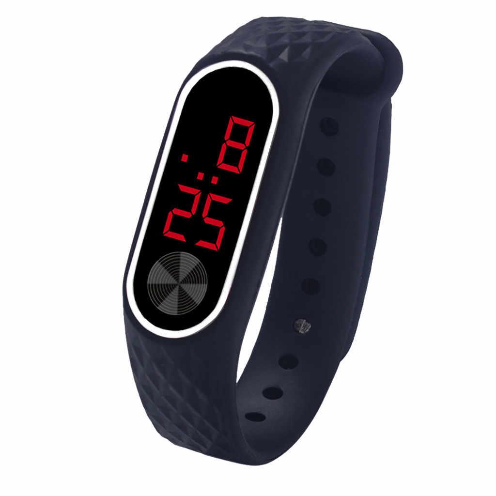 LED דיגיטלי תצוגת צמיד שעון גברים נשים סיליקה ג 'ל ספורט WatchElectronic אופנה gif גברים של שעון חיצוני s
