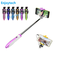 High quality Portable Extendable folding Handheld Monopod Mini Wired Selfie Stick for Iphone samsung Android Smartphone цена
