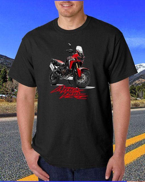 b0191c041a75 Fashion Japan Motorcycle Africa Twin CRF 1000 Adventure Black T-Shirts Tee  Grey Tee Men's