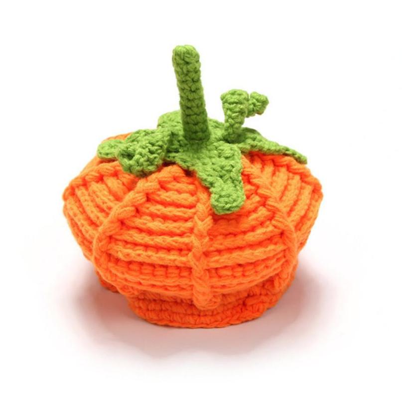 17 Cute Halloween Baby Hat Newborn Baby Pumpkin Cap Knit Hat Costume Photography Prop Dropshipping AG02 9